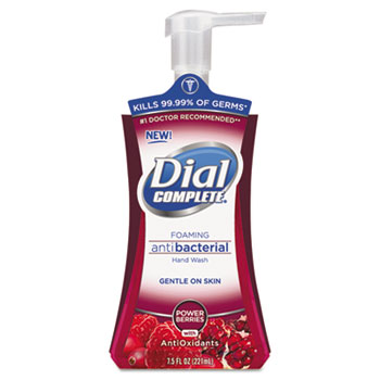 Antibacterial Foaming Hand Soap, Power Berries, 7.5 oz. Pump Bottle