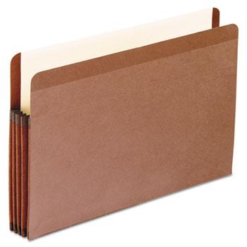 Pendaflex® Premium Reinforced Expanding File Pockets, Straight Cut, 1 Pocket, Legal, Red