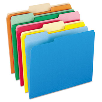 Colorful File Folders, 1/3 Cut Top Tab, Letter, Assorted Colors, 100/Box