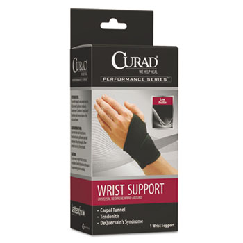 Curad® Performance Series Wrist Support, Adjustable, Black