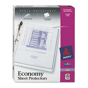 Economy Clear Sheet Protectors, Acid-Free, Letter Size, 100/BX