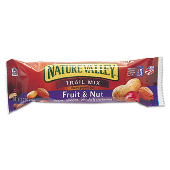 Granola Bars, Chewy Trail Mix Cereal, 1.2oz Bar, 16/BX