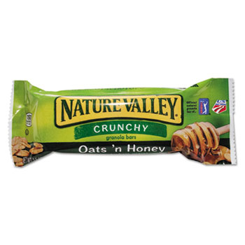 Nature Valley® Granola Bars, Oats'n Honey Cereal, 1.5oz Bar, 18/BX