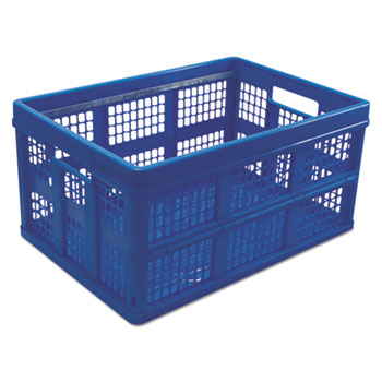 "Filing/Storage Tote, Letter Files, 20.13"" x 14.63"" x 10.75"", Blue"