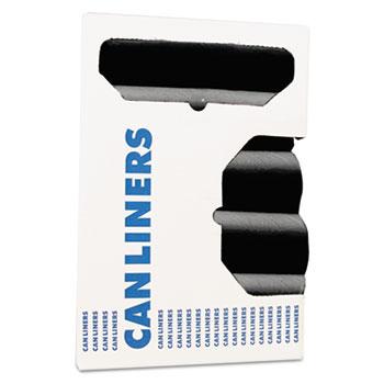 Heritage Accufit Can Liners, Prime Resin, 23 gal, 0.9 mil, 28 x 45, Black, 200/Carton