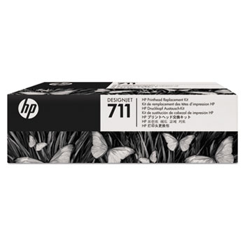 HP 711, (C1Q10A) Black/Cyan/Magenta/Yellow Printhead Replacement Kit