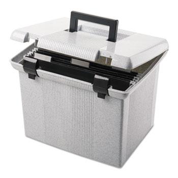 Pendaflex® Portafile File Storage Box, Letter, Plastic, 13 7/8 x 14 x 11 1/8, Granite