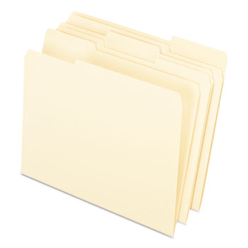 Pendaflex® Interior File Folders, 1/3 Cut Top Tab, Letter, Manila 100/Box