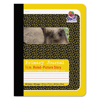 "Primary Journal, 1/2"" Ruling, 9-3/4 x 7-1/2, 100 Sheets"