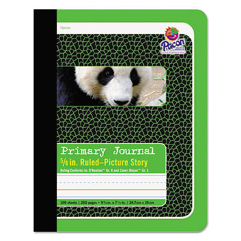 """Pacon® Primary Journal, 5/8"""" Ruling, 9-3/4 x 7-1/2, 100 Sheets"""