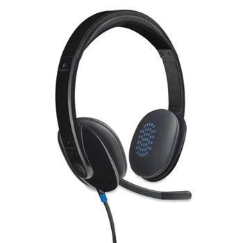 Logitech® H540 Corded Headset, USB, Black