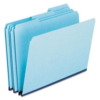 Pendaflex® Pressboard Expanding File Folders, 1/3 Cut Top Tab, Letter, Blue, 25/Box