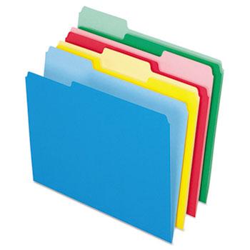 Pendaflex® Colored File Folders, 1/3 Cut Top Tab, Letter, Assorted Colors, 24/Pack