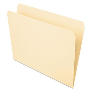 Pendaflex® Essentials™ File Folders, Straight Cut, Top Tab, Letter, Manila, 100/Box