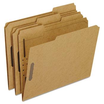 Pendaflex® Kraft Fastener Folders, 2 Fasteners, 1/3 Cut Tabs, Letter, 50/Box