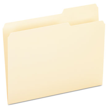 Pendaflex® Essentials™ File Folders, 1/3 Cut, Third Position, Top Tab, Letter, Manila, 100/Box