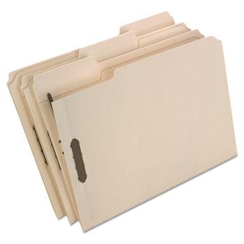 Pendaflex® Fastener Folders, 2 Fasteners, 1/3 Cut Tabs, Letter, Manila, 50/Box