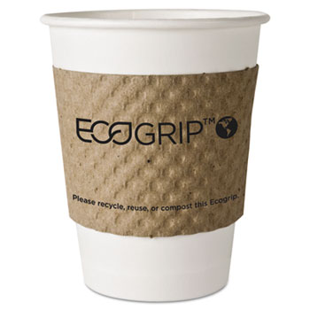 Eco-Products® EcoGrip Hot Cup Sleeves - Renewable & Compostable, 1300/CT