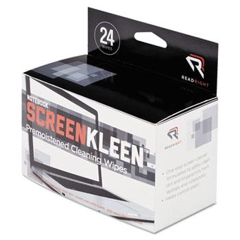 Notebook ScreenKleen Pads, Cloth, 5 x 4 3/8, White, 24/Box