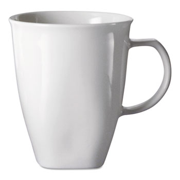 Office Settings Chef's Table Fine Porcelain Coffee Mugs, 16oz, White, 8/Box