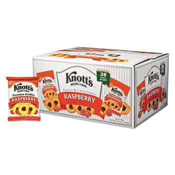 Knott's Berry Farm® Premium Berry Jam Shortbread Cookies, 2 oz Pack, 36/Carton