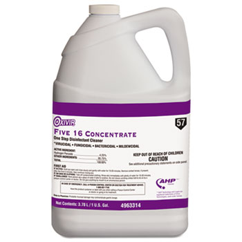 Five 16 One-Step Disinfectant Cleaner, 1gal Bottle, 4/Carton