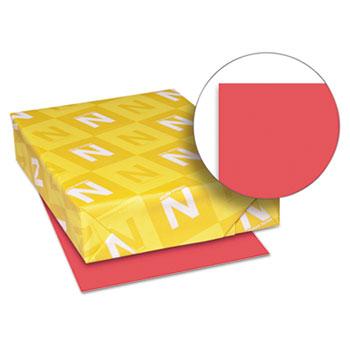 "Astrobrights® Color Paper, 8 1/2"" x 11"", 24 lb./89 gsm., Rocket Red™, 500/RM"