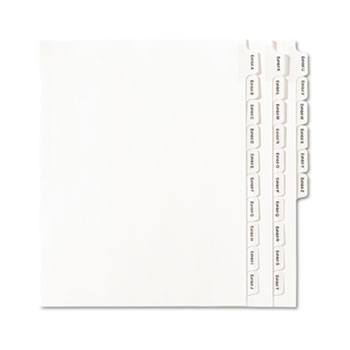 Avery® Collated Legal Dividers Allstate® Style, Letter Size, EXHIBIT A-Z Tab Set