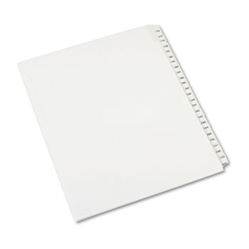 Collated Legal Dividers Allstate® Style, Side Tab Dividers, Letter Size, 176-200 Tab Set