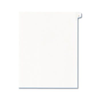 Avery® Individual Legal Dividers Allstate® Style, Side Tab Dividers, Letter Size, #1, 25/PK
