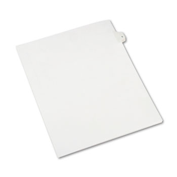 Avery® Individual Legal Dividers Allstate® Style, Side Tab Dividers, Letter Size, #5, 25/PK