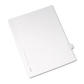 Avery® Individual Legal Dividers Allstate® Style, Side Tab Dividers, Letter Size, #6, 25/PK