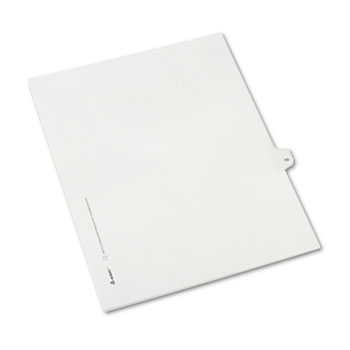 Avery® Individual Legal Dividers Allstate® Style, Side Tab Dividers, Letter Size, #10, 25/PK