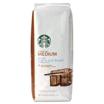 Whole Bean Coffee, Decaf Pike Place Roast, 1 lb Bag
