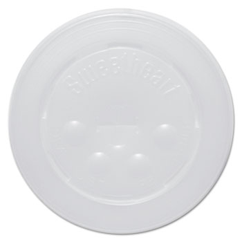 SOLO® Cup Company Polystyrene Cold Cup Lids, 16-22oz Cups, Translucent, 125/Pack, 16 Packs/Carton