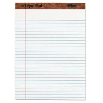 The Legal Pad Ruled Perforated Pads, 8 1/2 x 11 3/4, White, 50 Sheets, Dozen