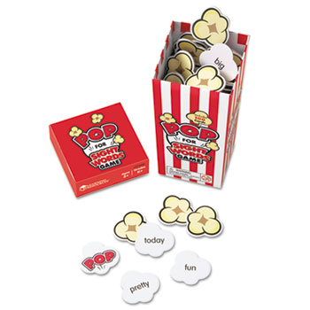 "POP for Sight Word Game, Red/White, 100 Popcorn Cards, 3""L x 3""W x 6.25""H"