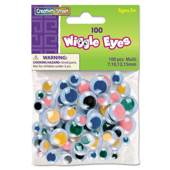 Creativity Street® Wiggle Eyes Assortment, Assorted Sizes, Assorted Colors, 100/Pack