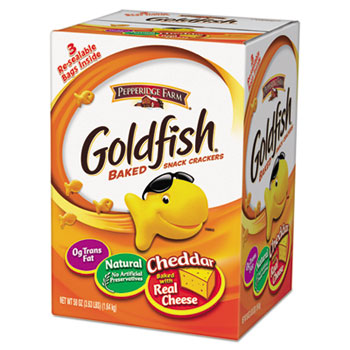 Pepperidge Farm® Goldfish Crackers, Baked Cheddar, 58 oz Resealable Bag in Box