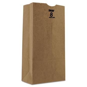 Kraft Paper Bags, Heavy-Duty, 8 lb., Brown, 500/Bundle