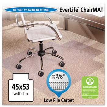 "ES Robbins® 45x53 Lip Chair Mat, Multi-Task Series AnchorBar for Carpet up to 3/8"""