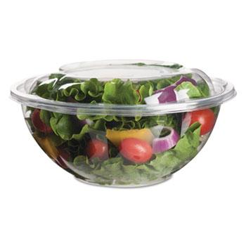 Eco-Products® Renewable & Compostable Salad Bowls w/ Lids - 24oz., 50/PK, 3 PK/CT