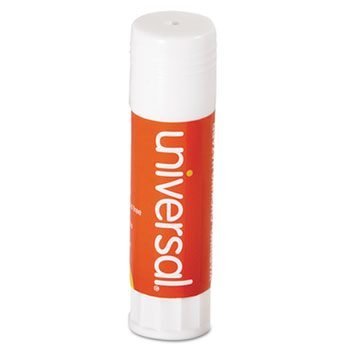 Universal Glue Stick, 0.74 oz, Applies and Dries Clear, 12/Pack