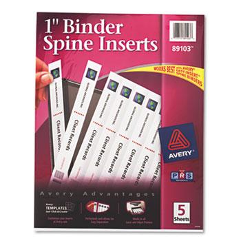 "Avery® 1"" Binder Spine Inserts, 40/PK"