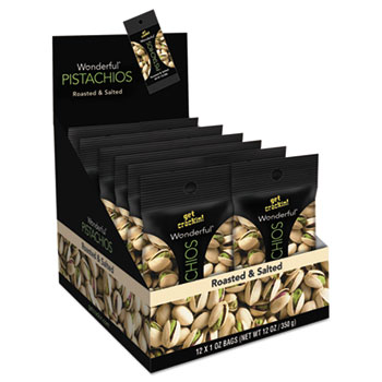 Wonderful Pistachios, Roasted & Salted, 1 oz. Pack, 12/BX