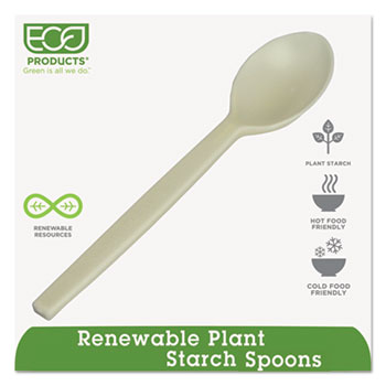 "Plant Starch Spoon - 7"", 50/PK"