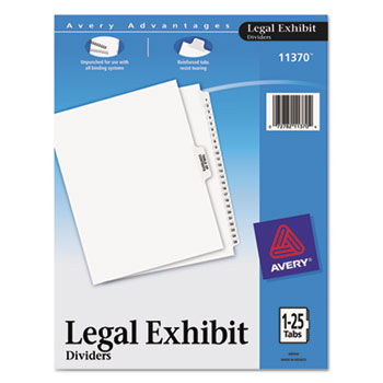 Premium Collated Legal Dividers Style, Letter Size, Avery-Style, Side Tab Dividers, 1-25 & Table of Contents Tab Set