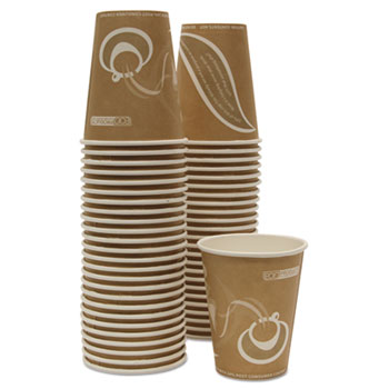 Eco-Products® Evolution World 24% Recycled Content Hot Cups Convenience Pack - 8oz., 50/PK