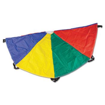 Champion Sports Nylon Multicolor Parachute, 20ft diameter, 8 Handles