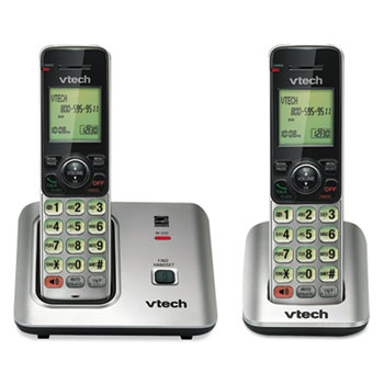 Vtech® CS6619-2 Cordless Phone System, Base and 1 Additional Handset